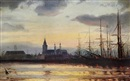Ioannis (Jean H.) Altamura, Evening in the harbour