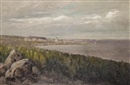 Nikolai Alexandrovich Klodt, Coastal landscape with a church on the horizon