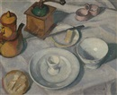 Olga Sacharoff, The breakfast table