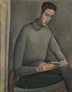 Olga Sacharoff, Portrait of a gentleman reading