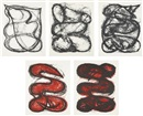 Elizabeth Murray, Untitled series: States I-V (set of 5)