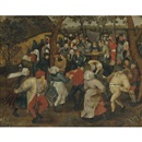 Attributed To Pieter Brueghel the Younger, The outdoor wedding feast (collab. w/studio)