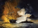 "Tad Shelong, ""U.S.S. Brooklyn"" attacked by confederate ram ""C.S.S. Manassas"""