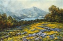 William Franklin Jackson, Haydock, Mt. Tamalpais with poppies and lupine