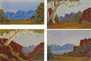 Clem Abbott, Views in the Kimberleys (4 works)