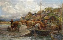 Charles James Adams, Loading the cattle, Isle of Skye