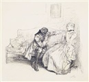 Edwin Austin Abbey, Eighteenth-century couple in conversation (Thou dear dissembler) (bk illus. for She stoops to conquer)