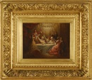 Marie-Abraham Rosalbin de Buncey, Dining room scene with several people standing making a toast
