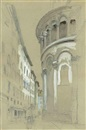 John Ruskin, Apse at the east-end of the Cathedral of San Martino, Lucca, Italy