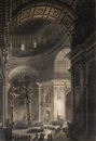 Louis Jean Desprez, The interior of St. Peter's with the Baldacchino