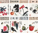 Xu Jiachang, Flowers and fruits (8 works)