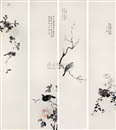 He Jinhong, Birds and flowers (4 works)