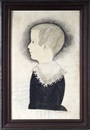 Mary B. Tucker, Profile portrait of a young boy wearing a lace collar