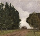 Elioth Gruner, Untitled (Country path)
