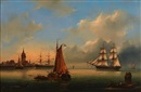 Govert van Emmerik, Ships in a German harbor
