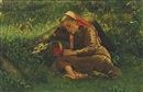 Johannes Cathrine Krebs, A sleeping girl in the forest floor