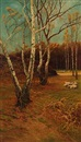 John Miller, Forest scene at autumn time
