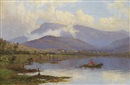 William Charles Piguenit, Sunrise, Mt Wellington from Shag Bay, River Derwent, Tasmania