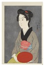 Goyo Hashiguchi, Woman with a tray