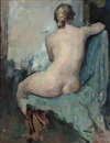 Herman Albert Gude Vedel, Back turned nude female model (study)