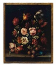 Italian School (20), Still life of flowers (+ another; 2 works)