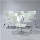 Piet Hein and Arne Jacobsen, Dining room suite (set of 7)