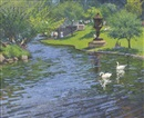 Thomas R. Dunlay, Swans on the lagoon at the Boston Public Garden