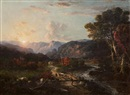 George Loring Brown, Sunrise, White Mountains, New Hampshire