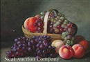 Peter Baumgras, Basket of grapes and peaches