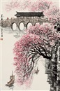 Huang Runhua, 花桥春色 (Gallery bridge in the spring)