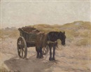 Gerhard Arij Ludwig Morgenstjerne Munthe, A horse and cart in the dunes
