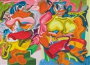 Peter Saul, Double De Kooning duck