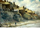 Frank Lewis Emanuel, Along the shore, Whitby (+ The boat builders yard, at Lyme Regis; 2 works)