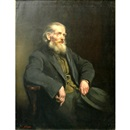 John Mansfield Crealock, Portrait of an old man seated in a chair