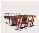 Mira Nakashima-Yarnall, Minguren dining table (+ Conoid chairs; 7 works)