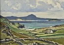 Anne Primrose Jury, Donegal landscape with cottage