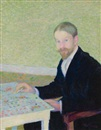 Theodore Earl Butler, Portrait of the artist, Wiiliam Hart, Giverny