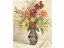 James Bolivar Manson, Still life of flowers in a vase on a table (study)