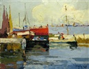 Rudolph Negely, Boats in the harbour