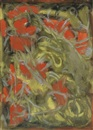 Beauford Delaney, Untitled (Gray, red and yellow abstraction)