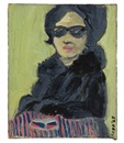 Vernon Lobb, Untitled (Portrait of woman in glasses and coat)