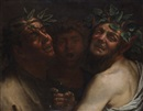 Style Of Michelangelo Merisi da Caravaggio, Bacco con due Satiri (Bacchus with two satyrs)