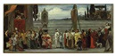 Lord Frederick Leighton, Cimabue's celebrated Madonna is carried in procession through the streets in Florence (sketch)