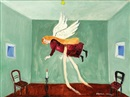 Margit Anna, An angel flying over the room (Magician)