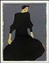 Fritz Scholder, Mystery woman in black dress