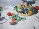 Adolphe Valette, Still life with basket of fruit