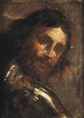 Follower Of Gian Lorenzo Bernini, A man looking over his shoulder (study)