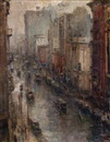 Alfred S. Mira, Rainy evening, New York