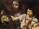 Follower Of Lionello Spada, David und Goliath