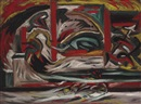 Jackson Pollock, Composition with vertical stripe